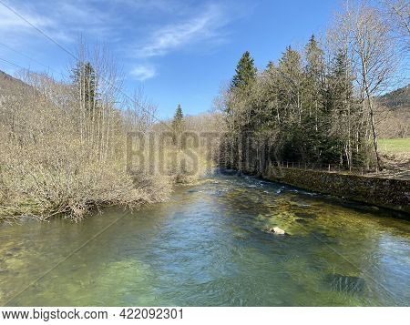 The Course Of The River Orbe Between The Cave Or Spring And The Settlement Of Vallorbe (der Fluss Or
