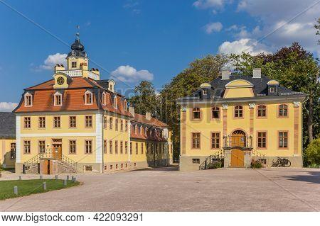 Historic Buildings Of The Belvedere Castle In Weimar, Germany
