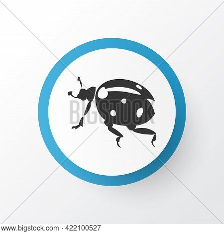 Ladybird Icon Symbol. Premium Quality Isolated Ladybug Element In Trendy Style.