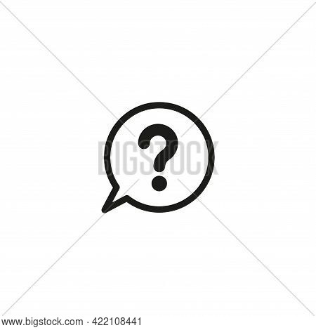 Question Mark Icon. A Question Mark In The Speech Bubble. Simple Vector Illustration On A White Back