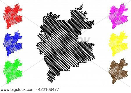 Carrollton City, Texas (united States Cities, United States Of America, Usa City) Map Vector Illustr
