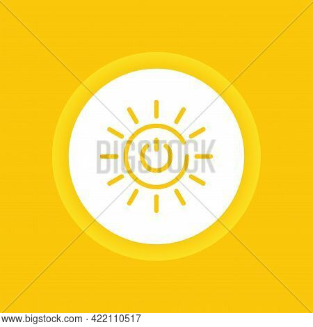 Affordable And Clean Energy Color Icon. Corporate Social Responsibility. Sustainable Development Goa