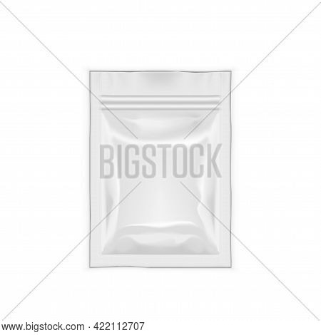 Blank Filled Foil Pouch Bag Packaging With Zipper
