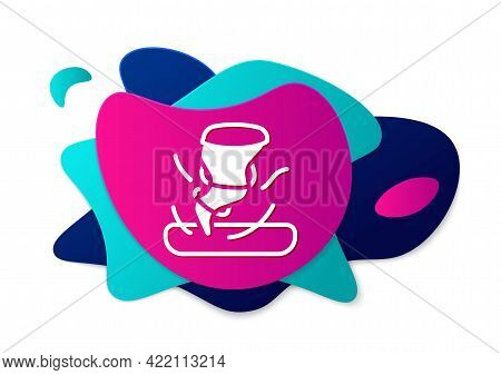 Color Tornado Icon Isolated On White Background. Cyclone, Whirlwind, Storm Funnel, Hurricane Wind Or