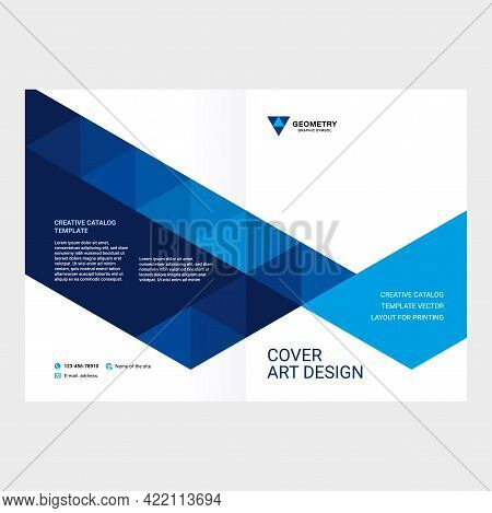 Cover Design For Product Presentation, Creative Layout Of Booklet Cover, Catalog, Flyer, Trendy Desi