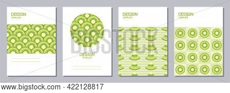 Set Of Flyers, Posters, Banners, Placards, Brochure Design Templates A6 Size. Backgrounds With Slice