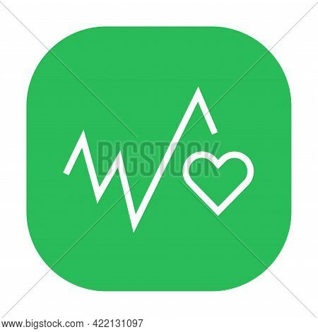 Good Health And Wellbeing Black Icon. Corporate Social Responsibility.