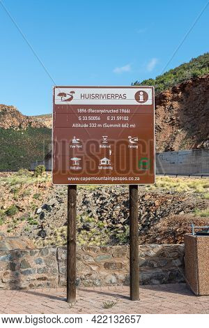 Calitzdorp, South Africa - April 6, 2021: An Information Board On The Huisrivier Pass Near Calitzdor