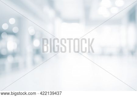 Blur Abstract Background From Office , Modern Light Spacious Business Room