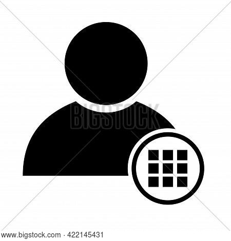 User Avatar Icon, Social Person Symbol, Business Vector Illustration, Web Member Isolated Background