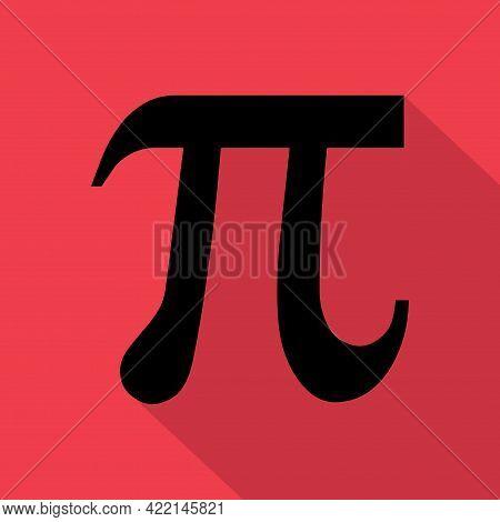 Pi Mathematical Symbol, Geometry Formula Icon, Education Vector Illustration, 3,14 Button .