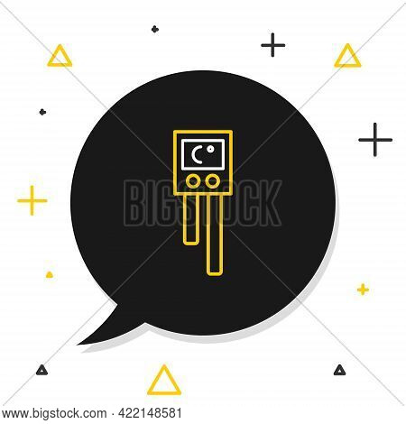 Line Temperature And Humidity Sensor Icon Isolated On White Background. Colorful Outline Concept. Ve