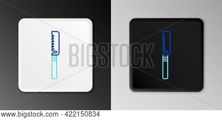 Line Medical Saw Icon Isolated On Grey Background. Surgical Saw Designed For Bone Cutting Limb Amput