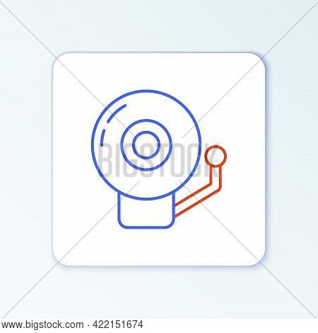 Line Ringing Alarm Bell Icon Isolated On White Background. Alarm Symbol, Service Bell, Handbell Sign
