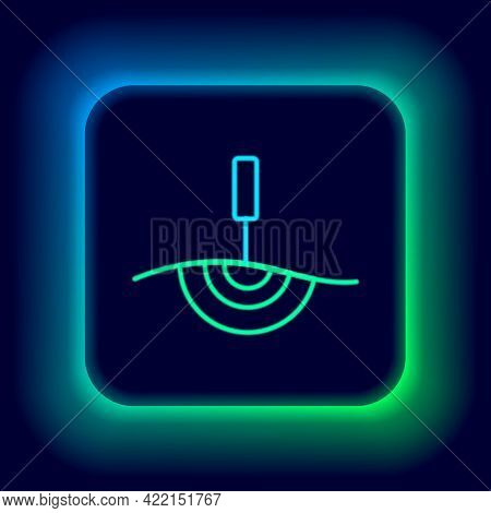 Glowing Neon Line Acupuncture Therapy Icon Isolated On Black Background. Chinese Medicine. Holistic
