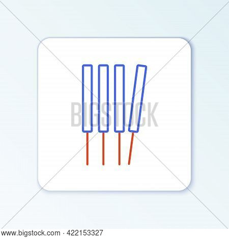 Line Aroma Sticks, Incense, Aromas Icon Isolated On White Background. Colorful Outline Concept. Vect