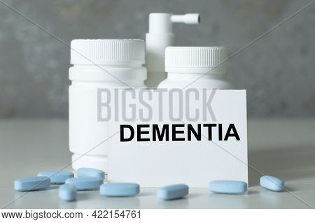 On The Business Card Text Dementia, Next White Medicine Jars On The Table