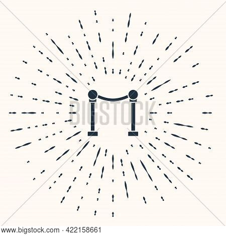 Grey Rope Barrier Icon Isolated On Beige Background. Vip Event, Luxury Celebration. Celebrity Party
