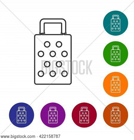 Black Line Grater Icon Isolated On White Background. Kitchen Symbol. Cooking Utensil. Cutlery Sign.