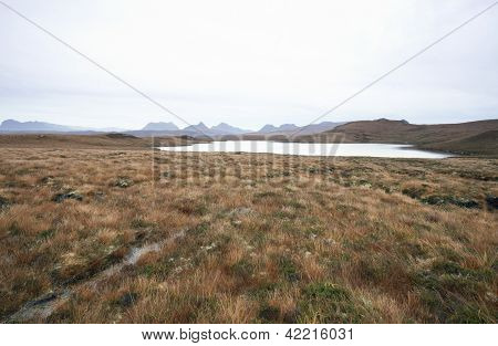 Wide Scottish Landscape With Distant Hills