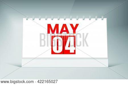 May 04, Desk Calendar Design Template. Single Date Calendar Design.