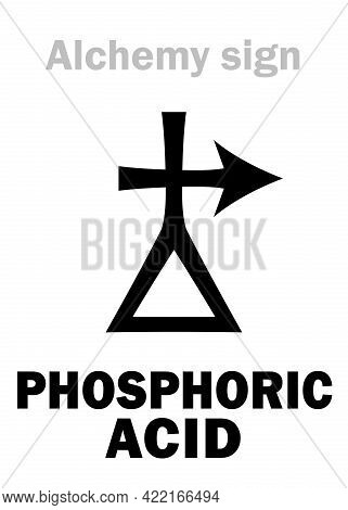 Alchemy Alphabet: Phosphoric Acid (also: Orthophosphoric Acid): Chemical Formula=[h3po4].