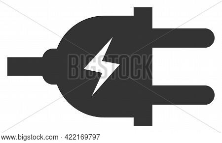 Electric Plug Vector Icon. A Flat Illustration Design Of Electric Plug Icon On A White Background.