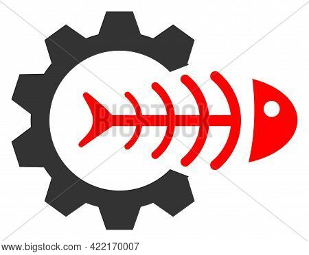 Toxic Industry Vector Icon. A Flat Illustration Design Of Toxic Industry Icon On A White Background.