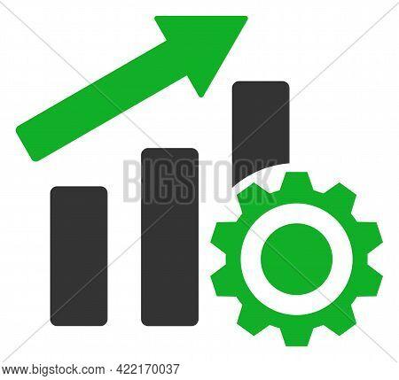Progress Chart Settings Vector Illustration. A Flat Illustration Design Of Progress Chart Settings I