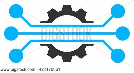Hitech Industry Vector Illustration. A Flat Illustration Design Of Hitech Industry Icon On A White B