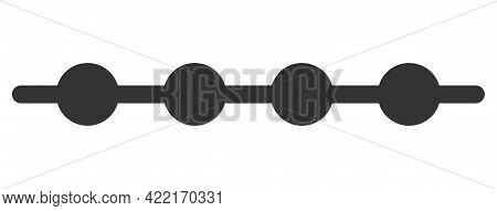 Connected Dots Line Vector Illustration. A Flat Illustration Design Of Connected Dots Line Icon On A