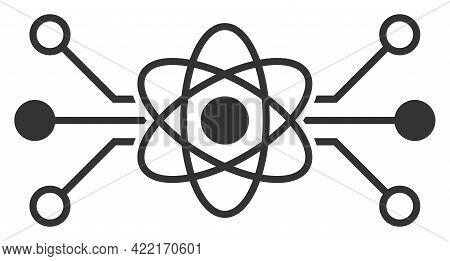 Quantum Circuit Vector Illustration. A Flat Illustration Design Of Quantum Circuit Icon On A White B