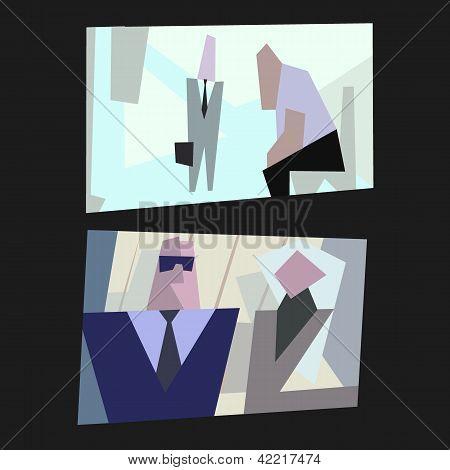 cartoon vector office life