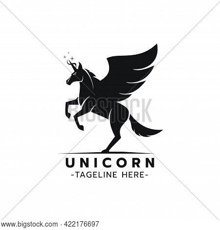 Beautiful Logo Icon Unicorn Jump,stylized Image Of Unicorn Logo Template,unicorn Head Tattoo,silhoue