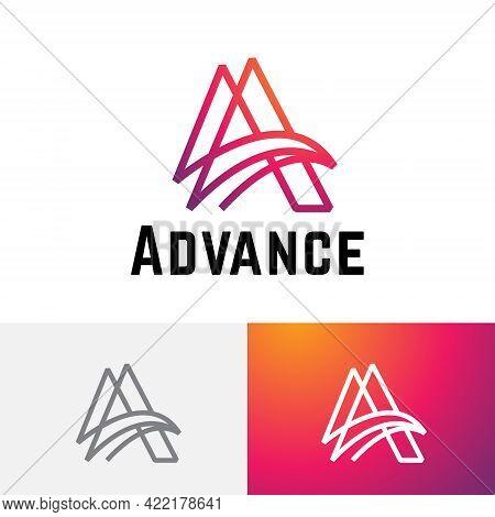 A Letter Advance Business Technology Abstract Monoline Modern Logo
