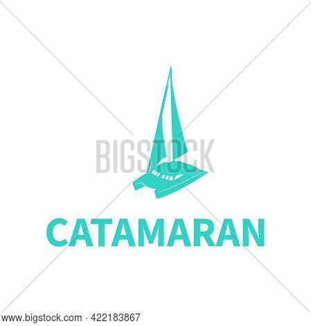 Illustration Vector Graphic Of Catamaran Boat Design
