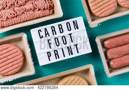 Variety Of Plant Based Meat, Food To Reduce Carbon Footprint