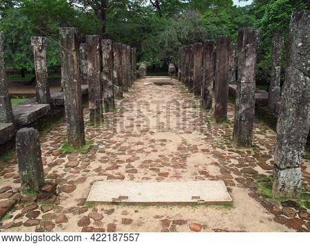 Ruins Of King Council Chamber In Polonnaruwa, Sri Lanka