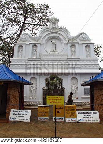 Anuradhapura, Sri Lanka - 05 Jan 2011: Sri Maha Boodhi Temple, Anuradhapura, Sri Lanka