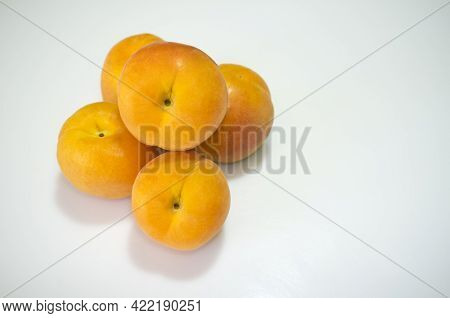 Spanish Apricots Heap. 5p Isolated Over White