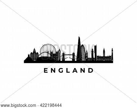 Vector England Skyline. Travel England Famous Landmarks. Business And Tourism Concept For Presentati
