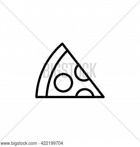 Slice Of Pizza Black Icon. Abstract Fastfood Concept. Trendy Flat Isolated Symbol, Sign Can Be Used