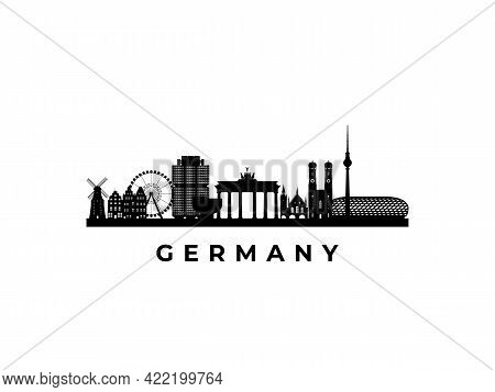 Vector Germany Skyline. Travel Germany Famous Landmarks. Business And Tourism Concept For Presentati