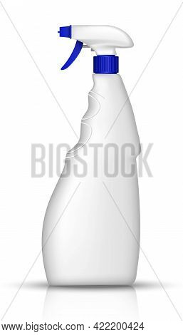 3d Realistic Vector White Bottle Of Window Spray. Kitchen Utensils And Washing Products. Isolated Il