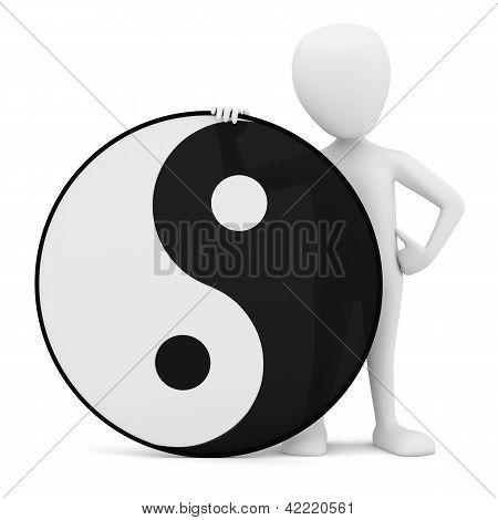 3D Small Person - Yin Yang.