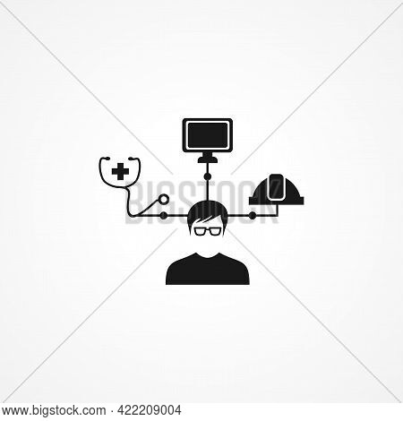 Area Of Specialization Simple Isolated Vector Icon. Area Of Specialization Simple Isolated Vector Ic