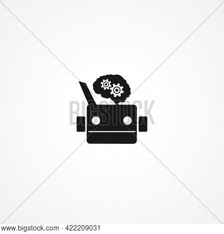 Articial Intelligence Simple Isolated Vector Icon. Articial Intelligence Simple Isolated Vector Icon