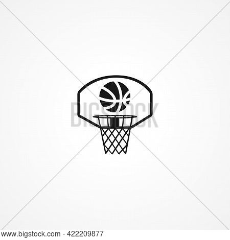 Basketball Simple Isolated Vector Icon. Basketball Simple Isolated Vector Icon. Basketball Simple Is