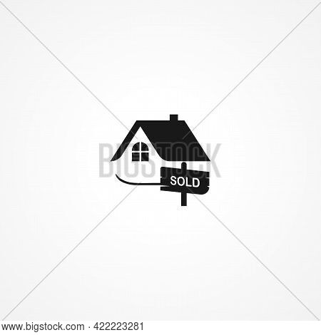 House Sold Simple Isolated Vector Icon. House Sold Simple Isolated Vector Icon. House Sold Simple Is