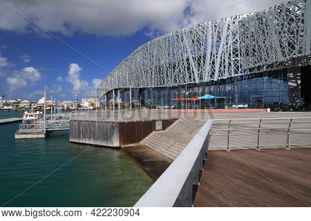 Guadeloupe, France - December 6, 2019: Modern Architecture Of Memorial Acte In Pointe-a-pitre City,